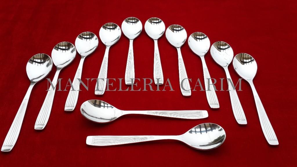 cuchara de té de acero inoxidable 12 unidades